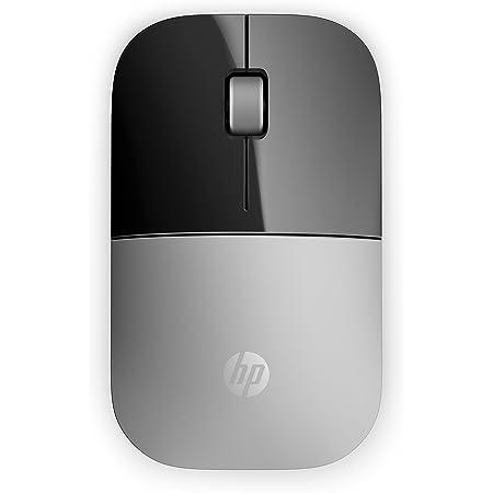 HP - PC Z3700 Mouse Wireless, Sensore Preciso, Tecnologia LED Blue, 1200 DPI, 3 Pulsanti, Rotella Scorrimento, Ricevitore USB Wireless 2.4 GHz Incluso, Design Pratico e Confortevole, Argento