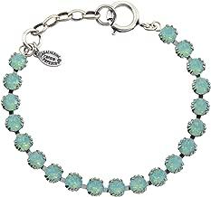 Catherine Popesco Silver Plated Round Tennis Bracelet, La Vie Parisienne, 8
