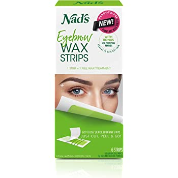 Amazon Com Nad S Eyebrow Wax Strips Facial Hair Removal For