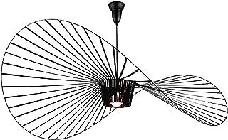 Luminaires Eclairage Suspensions Suspension Luminaire Lumieres Lustre Salon Led Vertigo Lampe Suspendus Pendentif E27 Chapeau Design Courbe Spirale Hanging Pour Pour Abat Jour De Chambre A Coucher Restaurant Marron 80cm