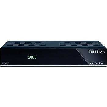Telestar Diginova 23 CI+ Combo HD Receiver (DVB S2, DVB T2, DVB C, CI+, Web Radio, PVR ready, HDMI, USB, LAN) schwarz