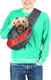 Cuddlissimo! Pet Sling Carrier - Small Dog Cat Sling Pet Carrier Bag Safe Reversible Comfortable Adjustable Pouch Single S...
