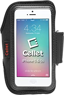 Cellet Neo Armband with 10.5in Armstrap & Key Pocket for Apple iPhone 5, 5S, 5C, SE