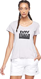 BodyTalk Women's BOXINGW T-Shirt, Grey (Light Grey), Small
