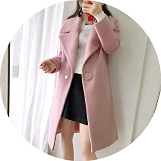 White Wool Blend Coat Women Lapel Long Parka Winter Jacket Cocoon Style Elegant Woolen Coat