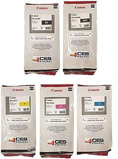 Canon PFI-207 300ml Ink Tank for Canon iPF680/685/780/785,5  Kit Consits of PFI-207BK (Black), PFI207C (Cyan), PFI207M (Ma...