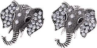 MagiDeal Women's Fashion Elephant Brooch Animal Pin Alloy Chic Vintage Jewelry - Silver