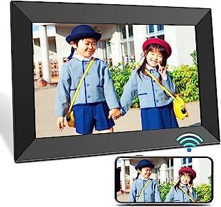 BIGASUO デジタルフォトフレーム 10.1インチ 1280*800 Wi-Fi転送 16GB内蔵メモリー 自動回転 写真/動画/音楽/スライドショー再生 時計/カレンダー/アラーム機能 最大32GB記憶媒体対応 結婚/出産祝い