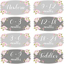 Mumsy Goose Girl Nursery Drawer Labels Pink Grey Floral Baby Clothes Organizers Girl Dresser Stickers