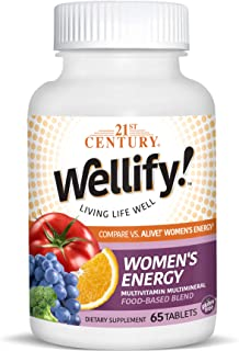 21st Century, Wellify! Women's Energy, Multivitamin Multimineral, 65 Tablets by ROYALISTA.RON