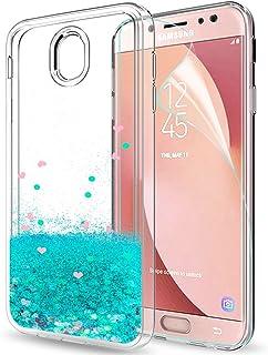 532d01b13ba LeYi Funda Samsung Galaxy J7 2017 / J7 Pro Silicona Purpurina Carcasa con  HD Protectores de