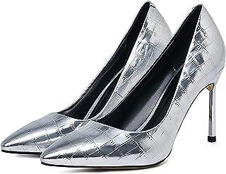 Dames Hoge Hakken, 9 cm Puntige Fijne Hak Enkele Schoenen, Sexy Dames Asakuchi Hoge Schoenen Voor De Lente (Inschuif)(41 E...
