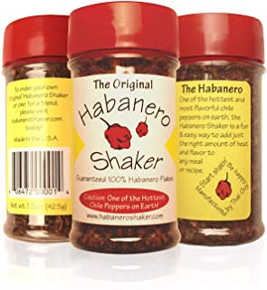 The Original Habanero Shaker - 100% Custom Flaked Hot Habanero Chile Peppers