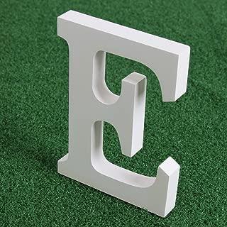 Fenta 装飾用アルファベット文字 木製 ホワイト 直立可能 結婚パーティーや室内装飾用 One Size ホワイト B01H2YO4X0