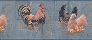hen and rooster wallpaper border