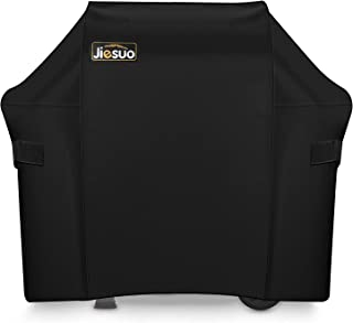 JIESUO BBQ Gas Grill Cover for Weber Spirit II 210: Heavy Duty Waterproof 48 Inch 2 Burner Weather Resistant Ripstop Outdoor Barbeque Grill Covers