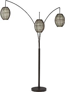 Adesso 4026-26 Maui Arc Lamp – 82-inch 3-Light Floor Lamp – Antique Bronze Finish..