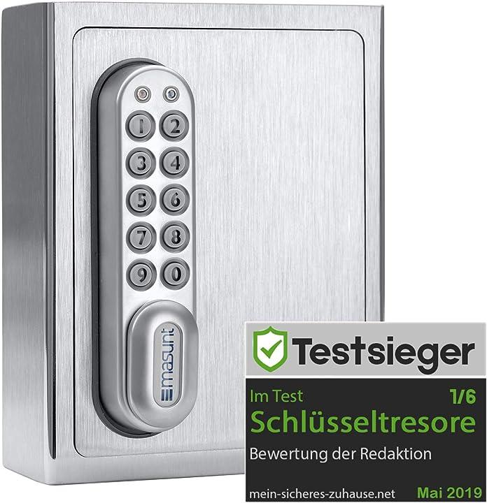 Cassaforte per chiavi in acciaio 1120 e code | assegnazione di codice online a distanza innovativa masunt KS11XXE