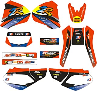 JFG RACING Customize Motorcycle Complete Adhesive Decals Stickers Graphics Kit For 1998-2004 For Honda XR250 XR400