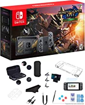 """Newest Nintendo Switch Monster Hunter Rise Deluxe Edition 32GB Console with Gray Joy-Con, 6.2"""" Multi-Touch 1280x720 Displa..."""