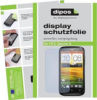dipos skärmskydd filmer för HTC Desire X (paket med 2) – anti-bländning skärmskydd matt