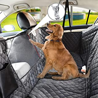 Vailge Dog Seat Cover for Back Seat,Waterproof Dog Car Seat Covers with Mesh Window, Scratch Prevent Antinslip Dog Car Ham...