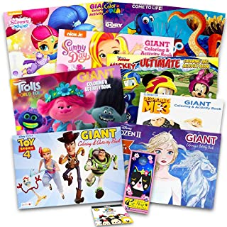 Disney Junior Gigantic Coloring Book Set For Girls Kids -- 4 Giant Coloring Books and over 1000 Stickers (Featuring Sofia ...