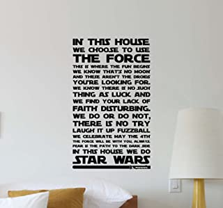 Julia Cruz in This House We Do Star Wars Wall Decal Quote Movie Inspirational Sayings Lettering Vinyl Sticker Motivational Gift Kids Room Home Bedroom Decor Art Poster Mural Custom Print 549