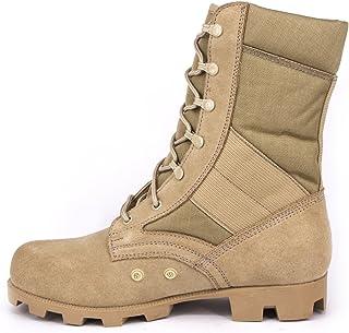 WIDEWAY Men s Military Jungle Boots Full Grain Leather Speedlace Desert  Boots Combat Outdoor Work Water Resistant f49e568986