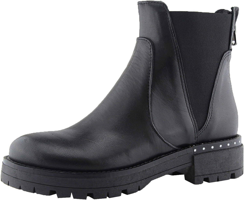 DEBUTTO DEBUTTO damen Damen Echtes Leder Niedrige Ankle Stiefel mit Doppeltem Elastischem Seitlichem FA02  das beste Online-Shop-Angebot