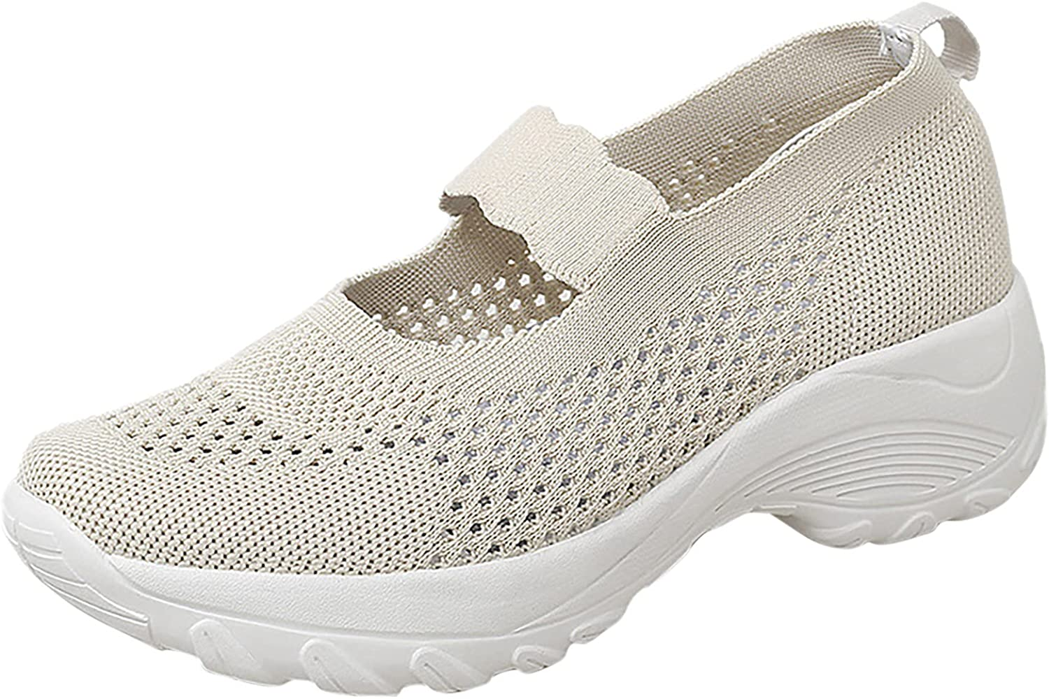 GNiwerb Womens Slip-on Memory Lightweight Sneakers Low Top Tennis Shoes Casual Walking Shoe for Gym Travel Work