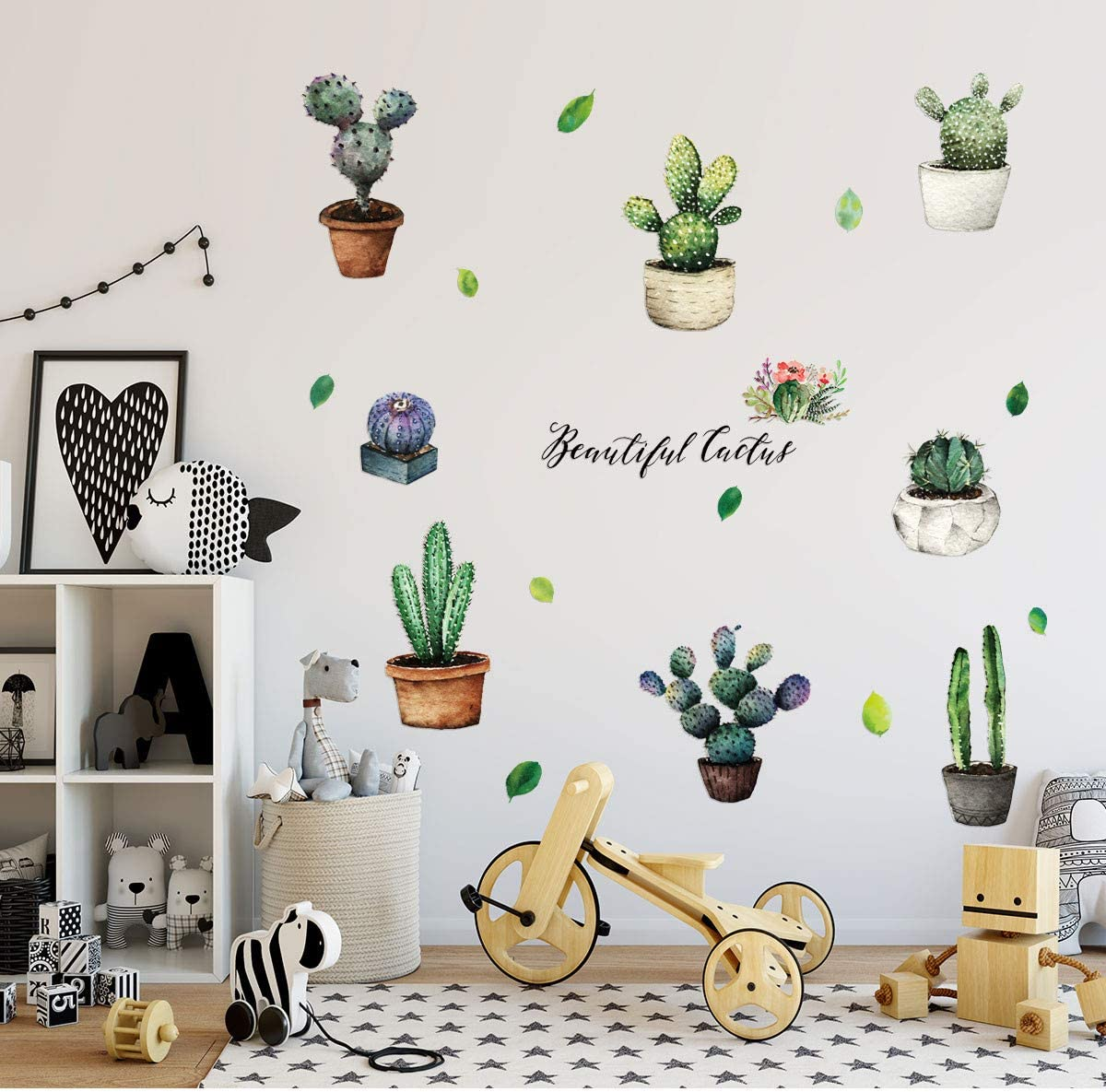 5% OFF RYGHEWE Wall Stickers for Living New life De Plants Pattern Room