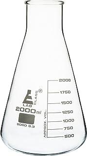 2000mL Conical Flask - Wide Neck - Eisco Labs 3.3 Borosilicate Glass - 250ml Graduations