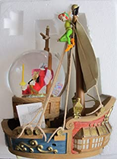 Disney Store PETER PAN 'PIRATE SHIP SHOWDOWN' Glittered SNOW GLOBE w LIGHTS, MUSIC & CAPTAIN HOOK in Waterball (2004)
