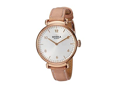 Shinola Detroit The Canfield 32mm 20089878 (Blush Leather Strap/Silver Dial) Watches