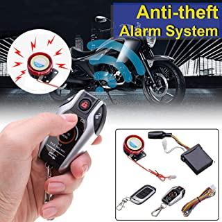 Carvicto - 2Way Motorcycle Scooter Anti Theft Burglary Alarm System Remote Control Remote Engine Start Stop Locating Emgerency Disarm