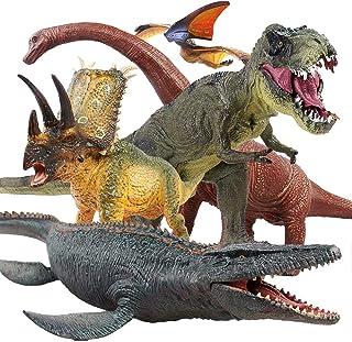 Jaysompro 5 PCS Jumbo Dinosaur Set -Realistic Looking Dinosaur Figures with Play Mat for Dinosaur Lovers-Kids Perfect Holi...