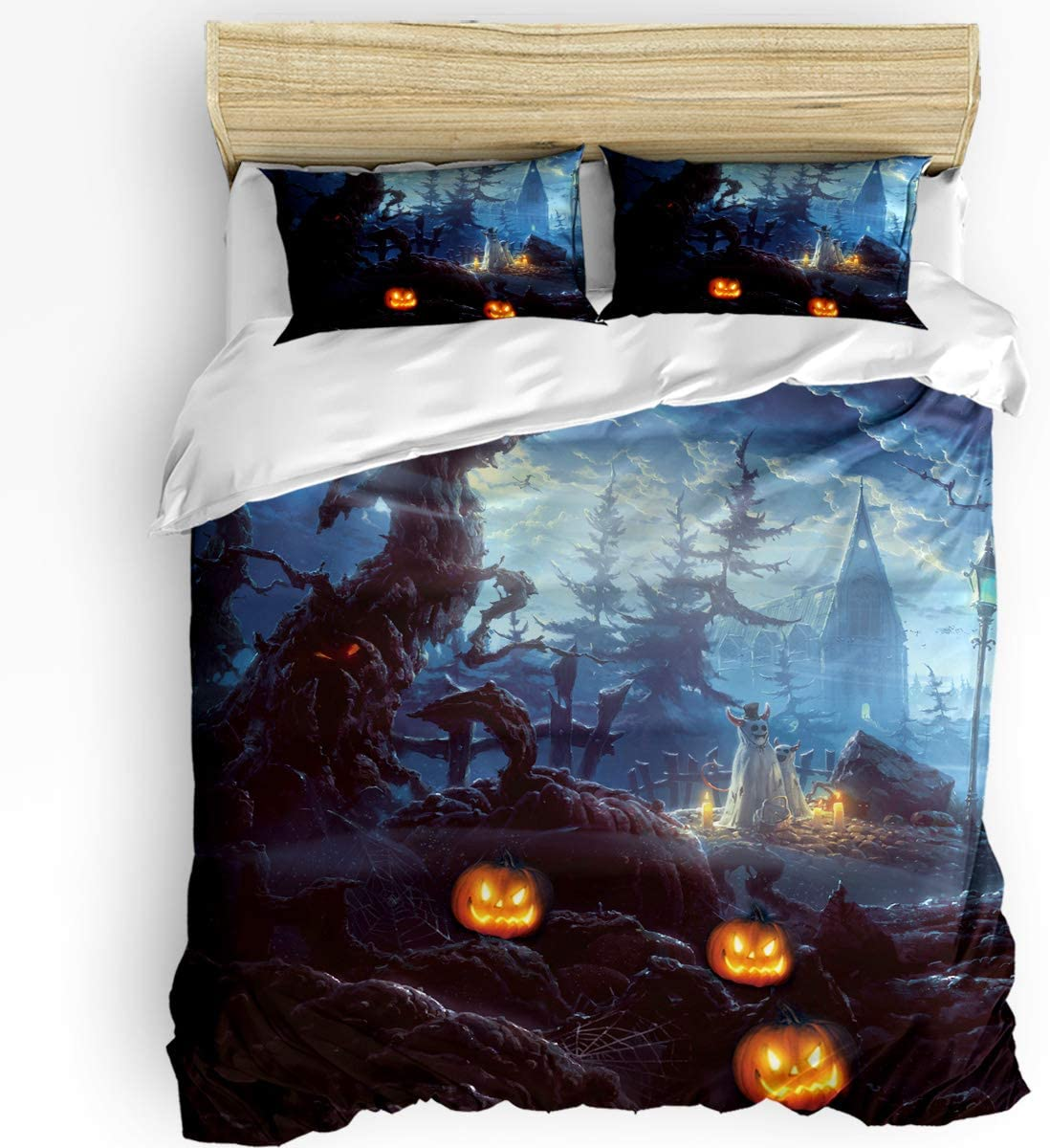 HELLOWINK Duvet In a outlet popularity Cover 3 Piece Bedding Size G Halloween Set King