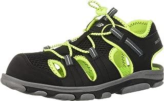 Unisex Kid's Adirondack Sandal Sport, Black/Lime G7 M US Big