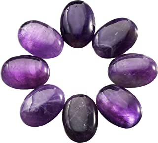 SUNYIK Purple Amethyst Cabochons CAB Flatback for Jewelry Making,22x30mm,Pack of 10