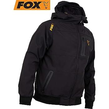 Angeljacke Gr/ö/ße:XXL Fox Collection Black Orange Windblocker