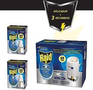 Raid Pack Anti Mosquitos Protección Plus, Contiene 1 difusor eléctrico + 3 recambios, 180 Noches, Incoloro