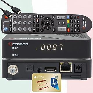 TiVuSat HD gouden kaart geactiveerd met voorgeprogrammeerde satelliettv-ontvanger Octagon SX87 HD H.265 S2+IP HEVC Set-Top...