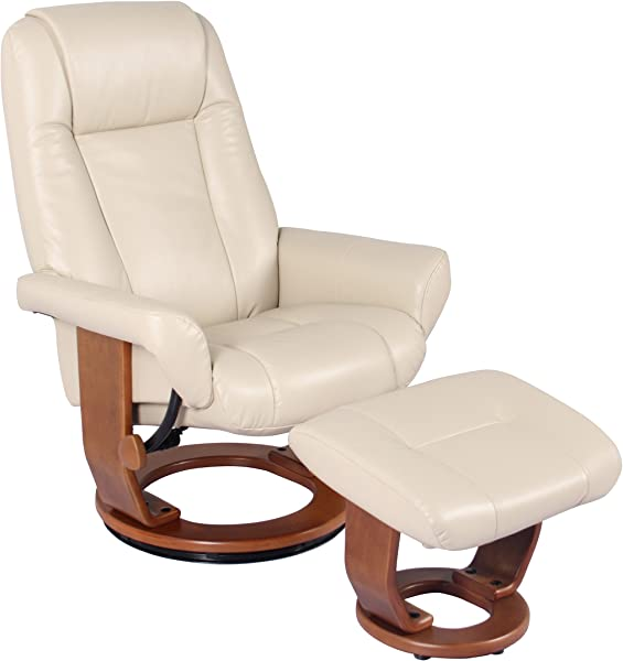 Windsor Soft Touch Synthetic Leather Swivel Chair Recliner Ottoman Lounger By Jerry Sales Stucco