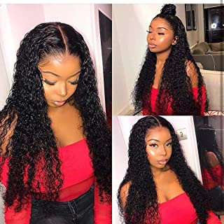 Water Wave lace Front Wig Human Hair 30 Inch 13x4 Lace Frontal Wigs For Black Women Nature Color Human Hair Wigs With Baby...