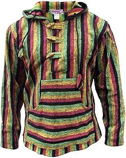 قميص رجالي أنيق من Shopoholic بقلنسوة ناعم بمزيج من خطوط Hippy Baja Jumper