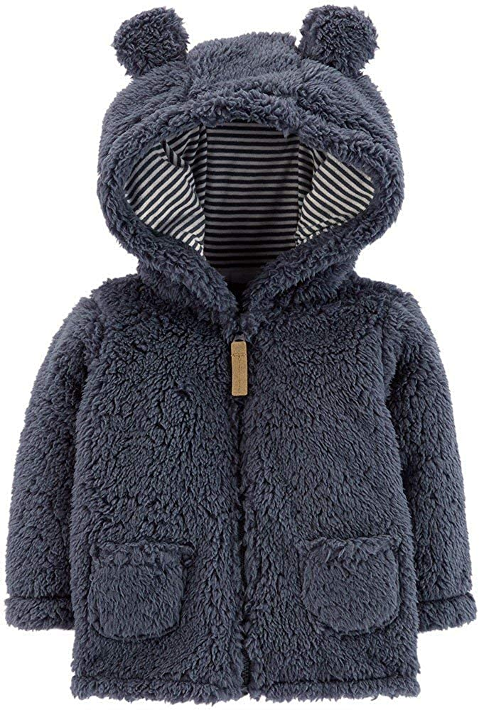 Carter's Zip-Up Sherpa OFFer 18M Jacket Navy Online limited product