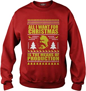 Sleeky All I Want for Christmas is The Means of Production Hoodie