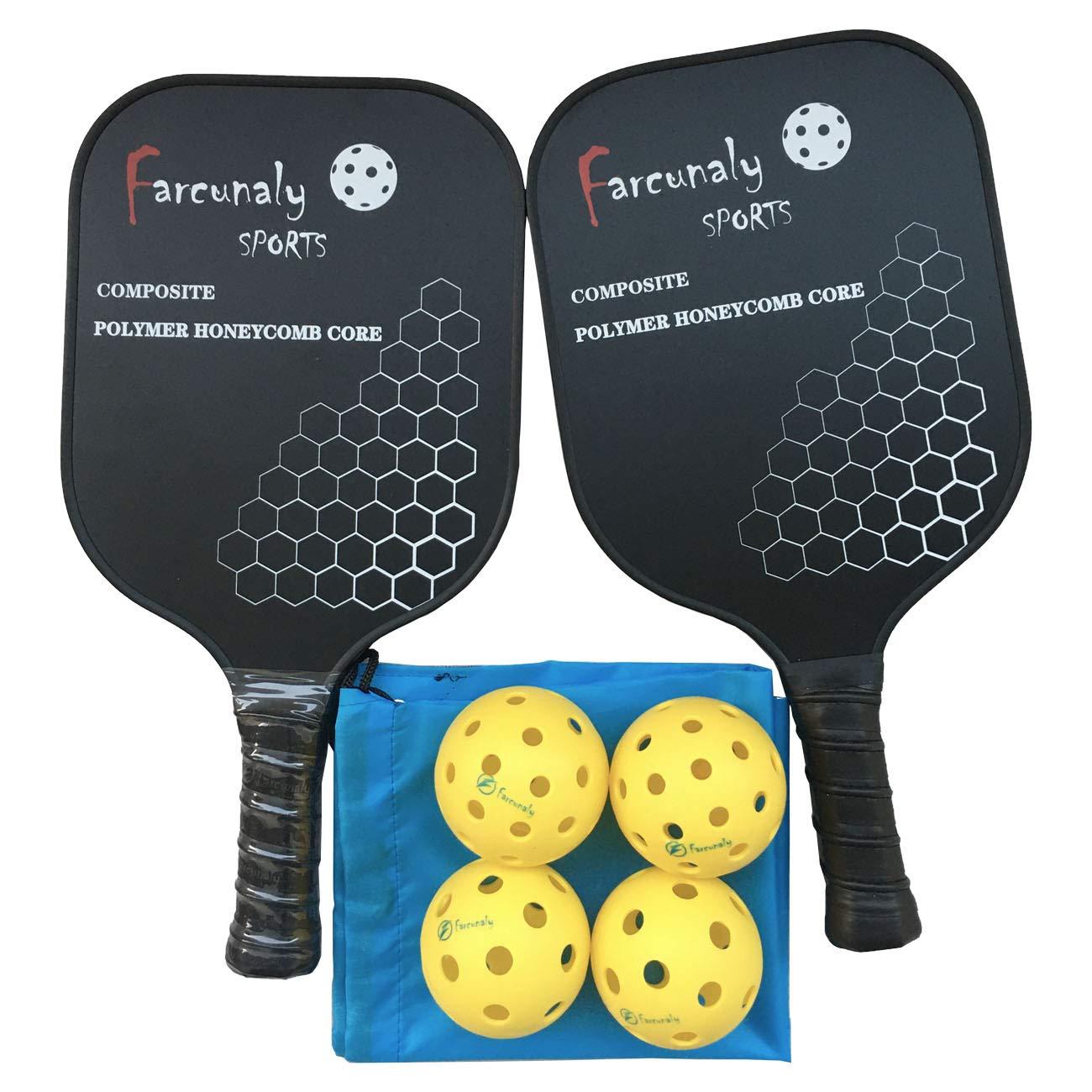 Farcunaly Pickleball Paddle Set Light Weight Power Honeycomb