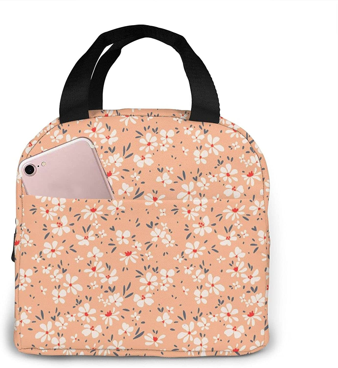 NAOINGEI Lovely Cheap bargain Flowers Reusable A surprise price is realized Insulated Lunch Bag Tote Cooler